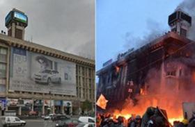 ウクライナ騒乱、街のビフォーアフター 首都キエフを比較した衝撃画像!!