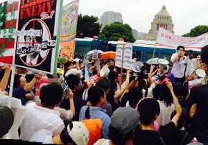 国会議事堂前に反安保デモ35万人! これでも官邸と安倍親衛隊は「大半がバイト」とデマをとばすのか