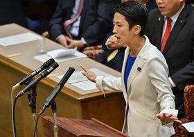 民進党の蓮舫代表、身内が提案したカジノ法案を徹底批判の大失態