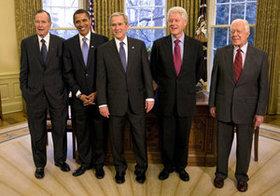 5人の「元・大統領ズ」がハリケーン被災で団結~アメリカの元大統領はふだん何をしているか