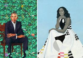 オバマとミシェル肖像画の「謎解き」~低俗な中傷にも品位を保ち続けた夫妻