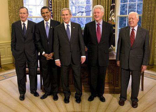 5人の「元・大統領ズ」がハリケーン被災で団結~アメリカの元大統領はふだん何をしているかの画像1