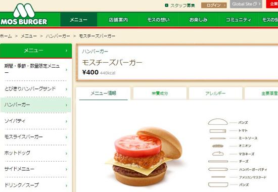 一番好きなハンバーガー調査ランキング!1位・モスチーズ、2位・てりやきマック