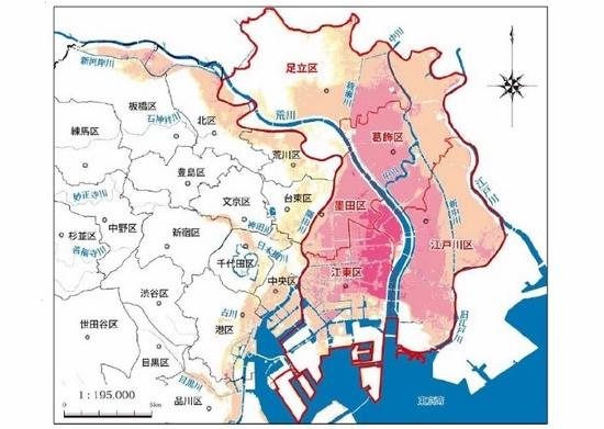 東京、水害ハザードマップ…墨田区・江東区、浸水5メートル&1週間のエリアも