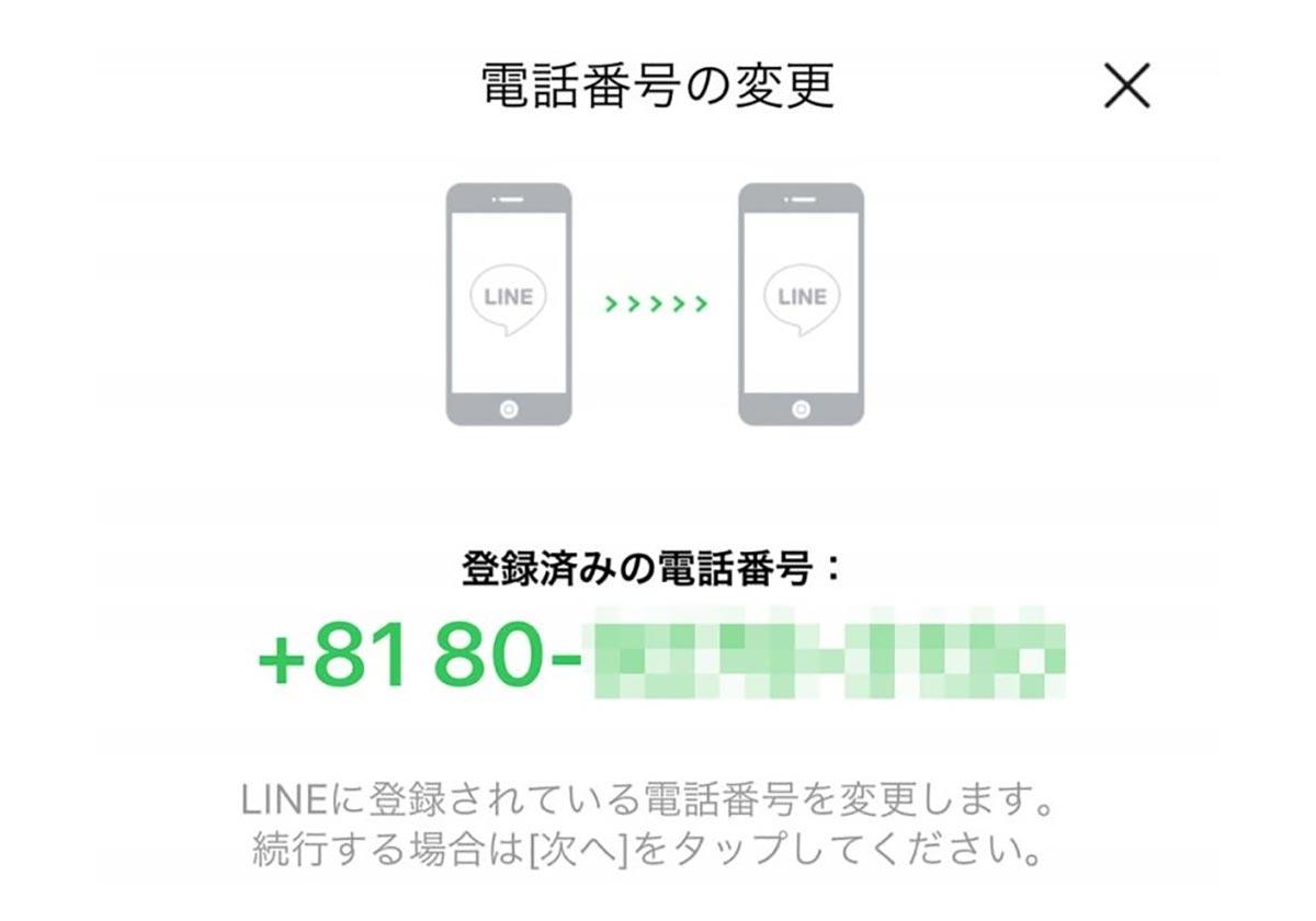 変更 line 電話 番号